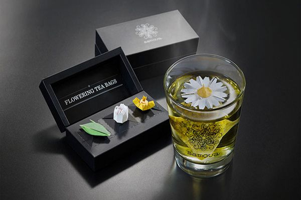 Thưởng thức ''trà hoa'' với túi lọc trà hình hoa xinh xắn