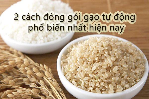 2 cách đóng gói gạo tự động phổ biến nhất hiện nay