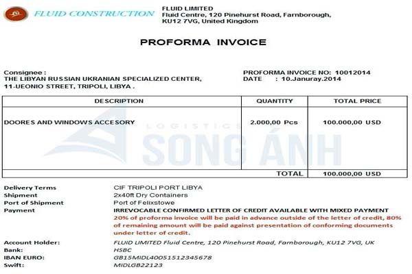 Proforma Invoice là gì?